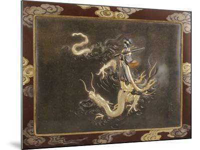 Benten Standing on the Back of a Dragon Holding a Koto, Late 19th Century--Mounted Giclee Print