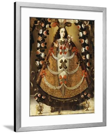 The Virgin of Pomata, School of la Paz, 17th Century-Leonardo Flores-Framed Giclee Print