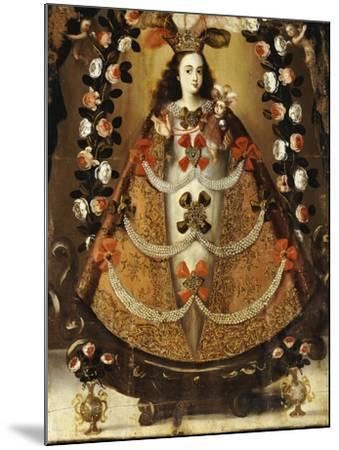 The Virgin of Pomata, School of la Paz, 17th Century-Leonardo Flores-Mounted Giclee Print