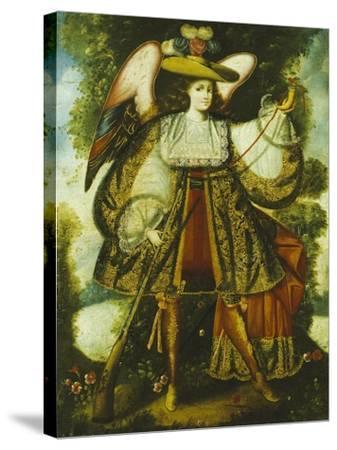 Arcangel Con Arcabuz Y, Cuzco School, 18th Century--Stretched Canvas Print