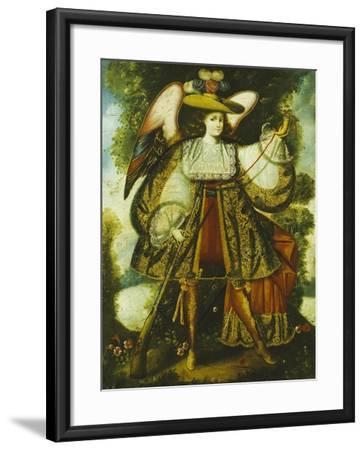 Arcangel Con Arcabuz Y, Cuzco School, 18th Century--Framed Giclee Print