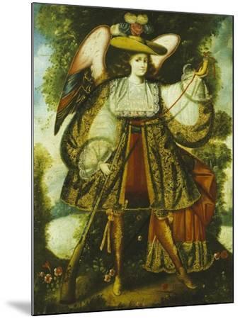 Arcangel Con Arcabuz Y, Cuzco School, 18th Century--Mounted Giclee Print
