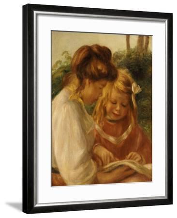 The Alphabet, Jean and Gabrielle-Pierre-Auguste Renoir-Framed Giclee Print