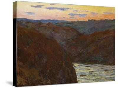 La Creuse, Sunset-Claude Monet-Stretched Canvas Print