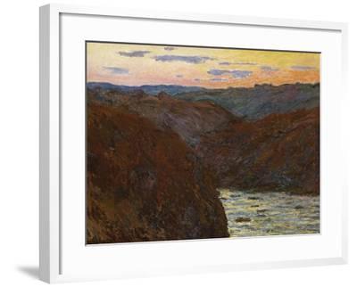 La Creuse, Sunset-Claude Monet-Framed Giclee Print