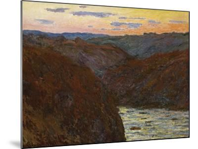 La Creuse, Sunset-Claude Monet-Mounted Giclee Print