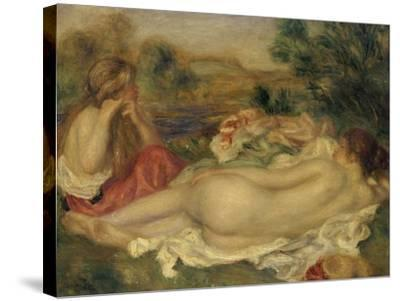 Two Bathers, 1896-Pierre-Auguste Renoir-Stretched Canvas Print