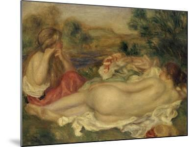 Two Bathers, 1896-Pierre-Auguste Renoir-Mounted Giclee Print