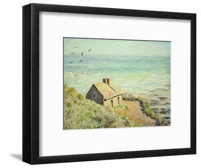The Customs Hut, Morning, 1882-Claude Monet-Framed Premium Giclee Print