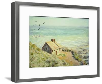 The Customs Hut, Morning, 1882-Claude Monet-Framed Giclee Print