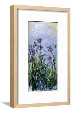 Iris Mauves, 1914-1917-Claude Monet-Framed Premium Giclee Print