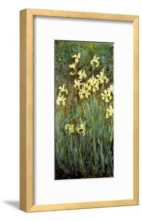 Yellow Irises-Claude Monet-Framed Premium Giclee Print