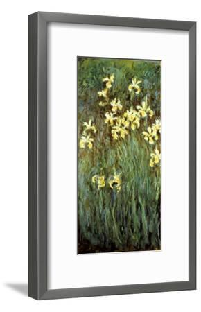 Yellow Irises-Claude Monet-Framed Giclee Print