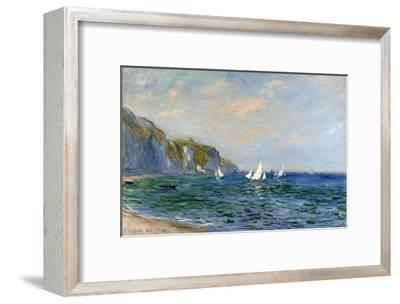 Cliffs and Sailboats at Pourville-Claude Monet-Framed Giclee Print