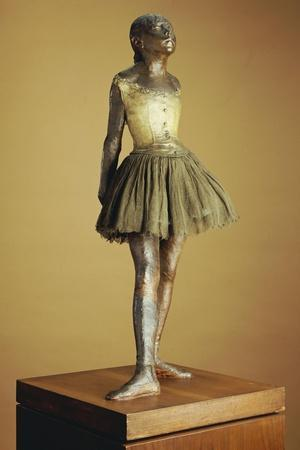 The Little Fourteen Year Old Dancer, Cast 1921-Edgar Degas-Stretched Canvas Print
