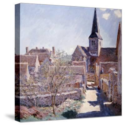 Bennecourt, 1885-Claude Monet-Stretched Canvas Print