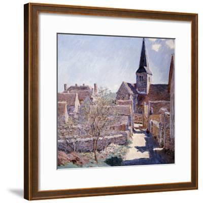 Bennecourt, 1885-Claude Monet-Framed Giclee Print