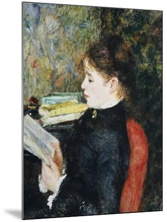 The Reader, 1877-Pierre-Auguste Renoir-Mounted Giclee Print