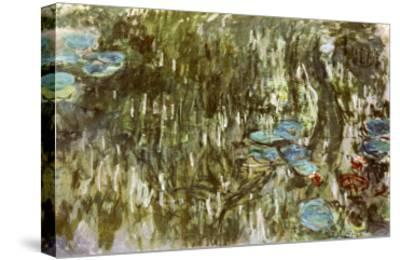Water Lilies, Reflected Willow, circa 1920-Claude Monet-Stretched Canvas Print