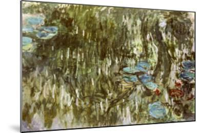 Water Lilies, Reflected Willow, circa 1920-Claude Monet-Mounted Giclee Print
