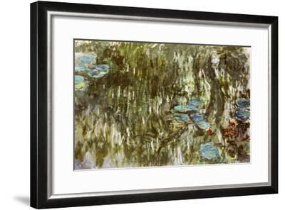 Water Lilies, Reflected Willow, circa 1920-Claude Monet-Framed Giclee Print