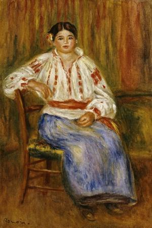 Young Romanian, 1914-Pierre-Auguste Renoir-Stretched Canvas Print