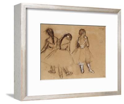 Three Dancers-Edgar Degas-Framed Premium Giclee Print