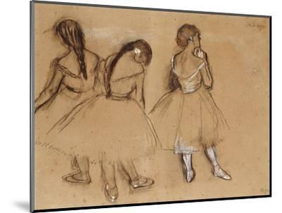 Three Dancers-Edgar Degas-Mounted Premium Giclee Print