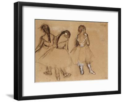 Three Dancers-Edgar Degas-Framed Giclee Print