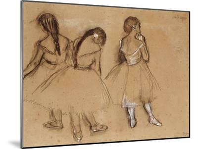 Three Dancers-Edgar Degas-Mounted Giclee Print