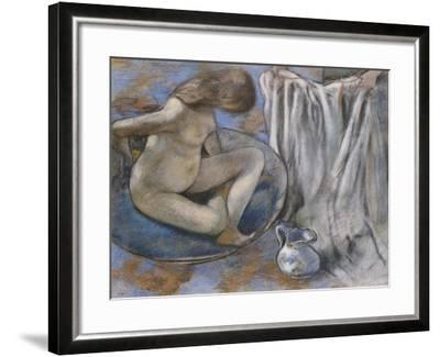 Woman in the Tub, 1884-Edgar Degas-Framed Giclee Print