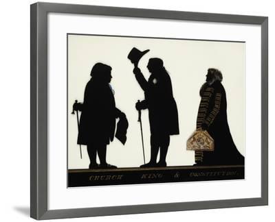 Church, King and Constitution, Silhouette on Glass-Charles Rosenberg-Framed Giclee Print
