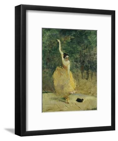 The Spanish Dancer, 1888-Henri de Toulouse-Lautrec-Framed Premium Giclee Print