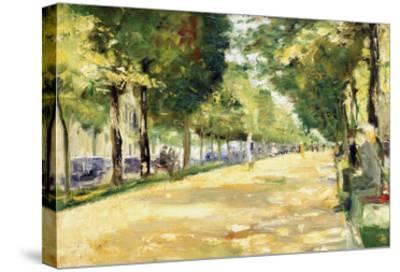 The Tiergarten Park, Berlin-Lesser Ury-Stretched Canvas Print