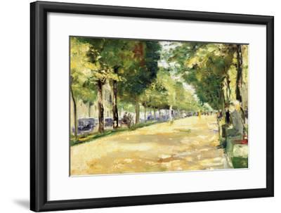 The Tiergarten Park, Berlin-Lesser Ury-Framed Giclee Print