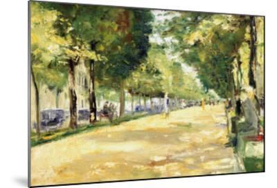 The Tiergarten Park, Berlin-Lesser Ury-Mounted Giclee Print
