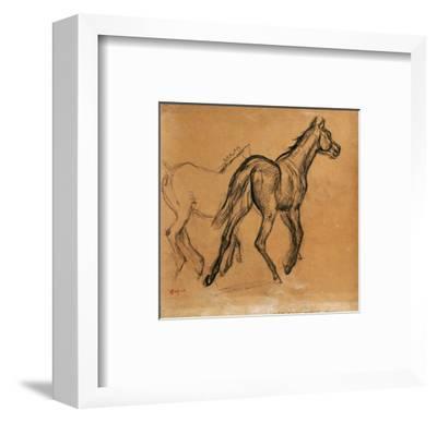 Horses, circa 1882-Edgar Degas-Framed Premium Giclee Print