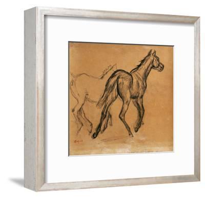 Horses, circa 1882-Edgar Degas-Framed Giclee Print