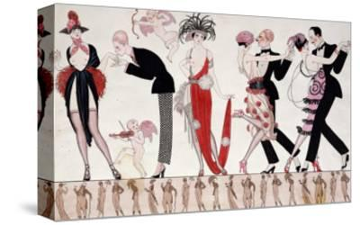 The Tango-Georges Barbier-Stretched Canvas Print