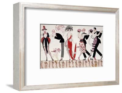 The Tango-Georges Barbier-Framed Premium Giclee Print