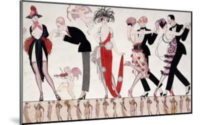 The Tango-Georges Barbier-Mounted Giclee Print
