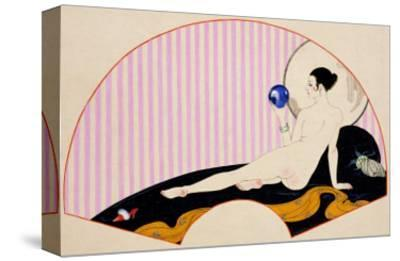 Odalisque with a Crystal Ball, Dated 1920-Georges Barbier-Stretched Canvas Print