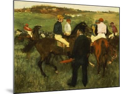 Racehorses (Leaving the Weighing), circa 1874-78-Edgar Degas-Mounted Giclee Print