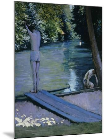 Bather About to Plunge Into the River Lyrres-Gustave Caillebotte-Mounted Giclee Print