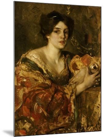 The Fortune Teller, Miss Jane Aitken-Edward Arthur Walton-Mounted Giclee Print