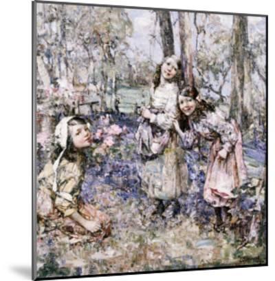 Gathering Bluebells, 1909-Edward Atkinson Hornel-Mounted Giclee Print