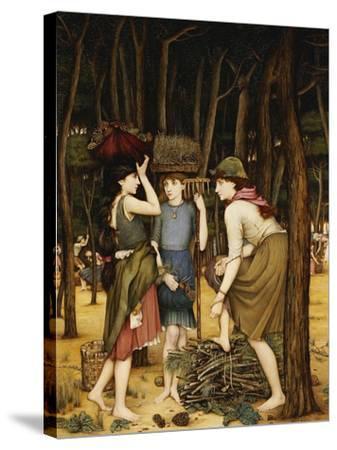 Pine Woods at Viareggio-John Roddam Spencer Stanhope-Stretched Canvas Print