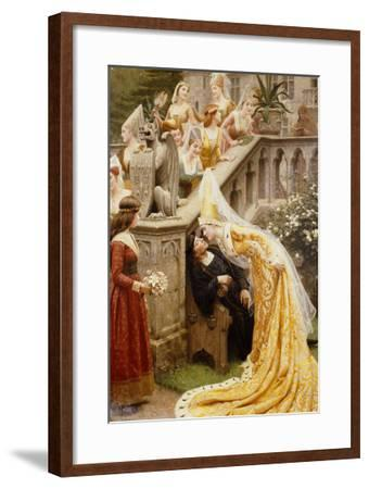 Alain Chartier, 1903-Edmund Blair Leighton-Framed Giclee Print