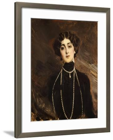 Portrait of Lina Cavalieri, circa 1901-Giovanni Boldini-Framed Giclee Print