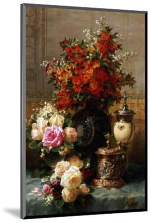 Still Life of Roses and Other Flowers-Jean Baptiste Claude Robie-Mounted Premium Giclee Print
